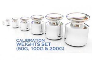 Pharmacy Balance Calibration Weights Set (50g, 100g & 200g)